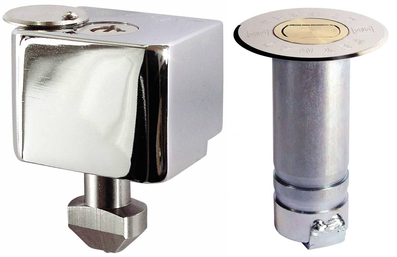dispositivo keymat - Cerradura persiana metalica de suelo cierres de seguridad antirrobo persianas